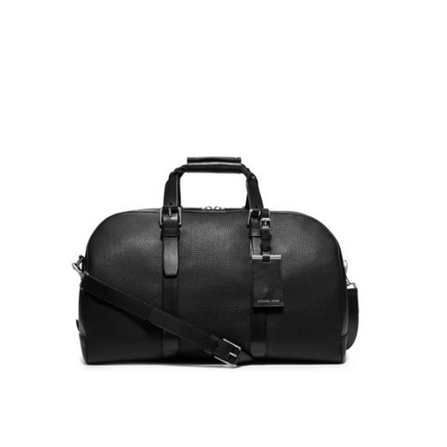 MICHAEL KORS MEN Bennett Large Pebbled-Leather Duffel