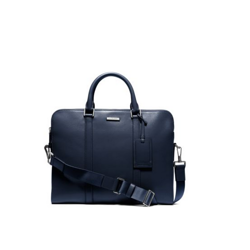 MICHAEL KORS MEN Warren Slim Leather Briefcase INDIGO