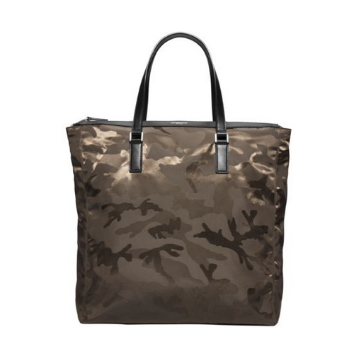 MICHAEL KORS MEN Kent Large Camouflage Nylon Tote ARMY
