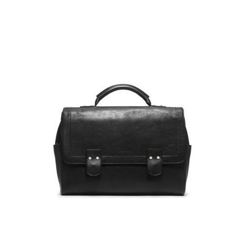 MICHAEL KORS MEN Wilder Vintage Leather Briefcase BLACK