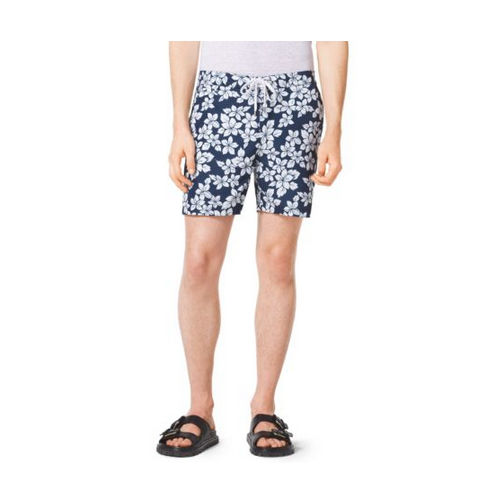 MICHAEL KORS MEN Floral Swim Shorts ATLANTIC BLUE