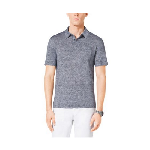 MICHAEL KORS MEN Linen And Cotton Polo Shirt INDIGO