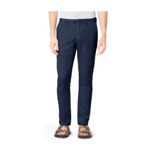MICHAEL KORS MEN Slim-Fit Cotton And Linen Chinos ATLANTIC BLUE