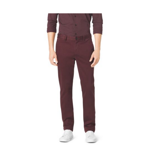 MICHAEL KORS MEN Tailored-Fit Chinos BORDEAUX
