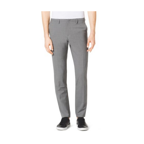 MICHAEL KORS MEN Slim-Fit Wool Trousers BANKER GREY