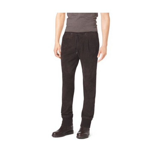 MICHAEL KORS MEN Suede Track Pants CHOCOLATE