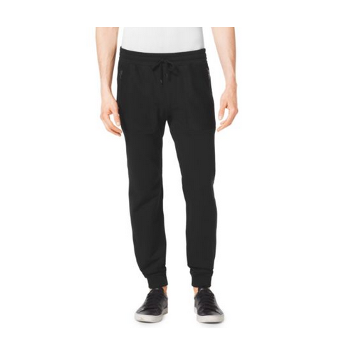 MICHAEL KORS MEN Stretch-Cotton Track Pants BLACK