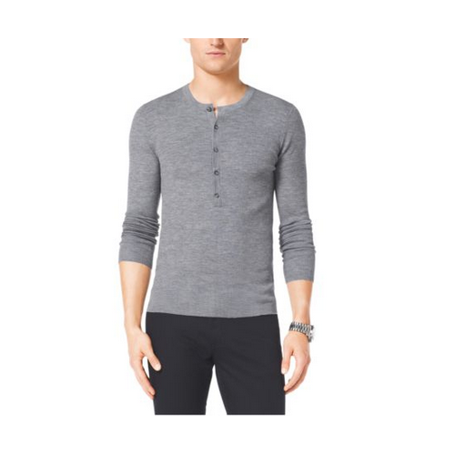 MICHAEL KORS MEN Cotton Henley BANKER GREY