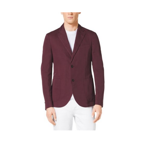 MICHAEL KORS MEN Cotton And Linen Blazer CABERNET
