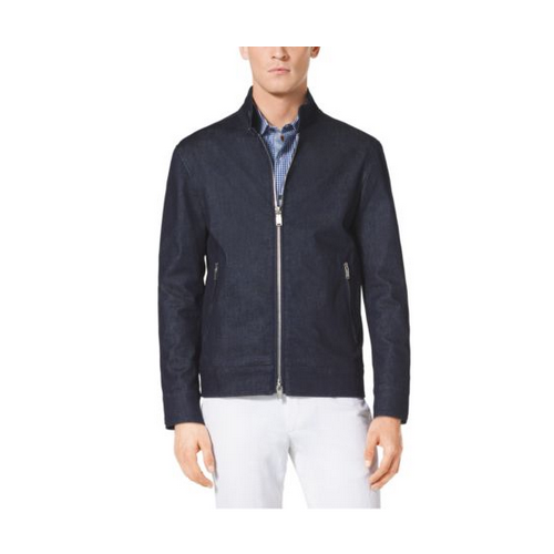 MICHAEL KORS MEN Zip-Front Stretch-Cotton Jacket INDIGO