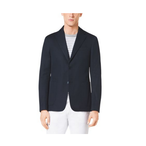 MICHAEL KORS MEN Canvas Blazer MIDNIGHT
