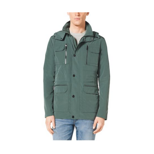 MICHAEL KORS MEN Hooded Nylon Anorak PATINA