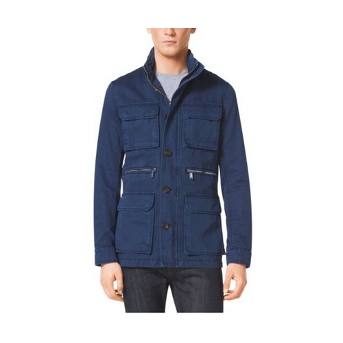 MICHAEL KORS MEN Cotton And Linen Utility Jacket ATLANTIC BLUE