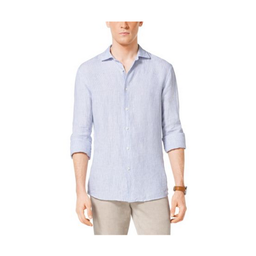 MICHAEL KORS MEN Tailored-Fit Linen Shirt OCEAN