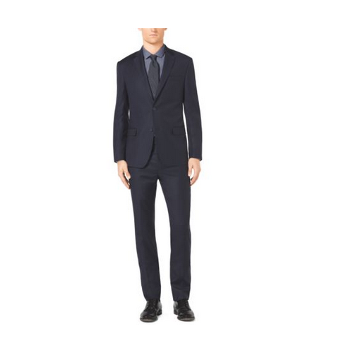MICHAEL KORS MEN Slim-Fit Two-Button Wool Suit MIDNIGHT