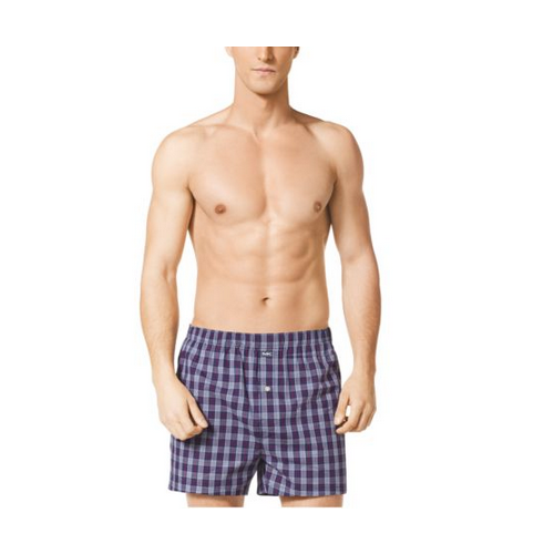 MICHAEL KORS MEN Cotton-Poplin Boxer Shorts HERITAGE BLUE