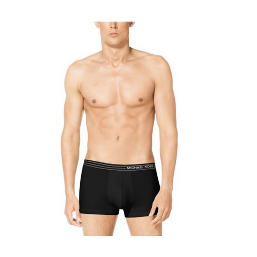 MICHAEL KORS MEN Microfiber Cropped Boxer Brief BLACK