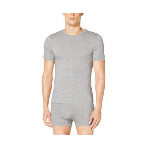 MICHAEL KORS MEN Three-Pack Crewneck Cotton-Modal T-Shirt HEATHER GREY