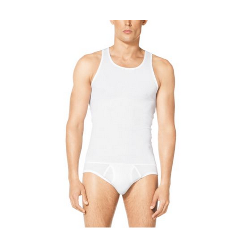 MICHAEL KORS MEN Three-Pack Cotton-Modal Tank WHITE