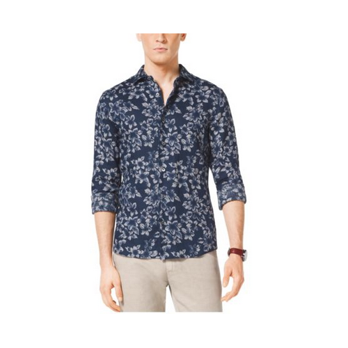MICHAEL KORS MEN Tailored-Fit Linen Shirt ATLANTIC BLUE