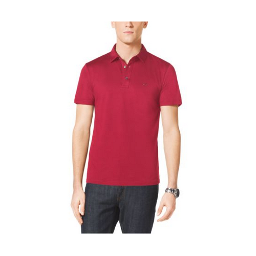 MICHAEL KORS MEN Cotton Polo Shirt SCARLET
