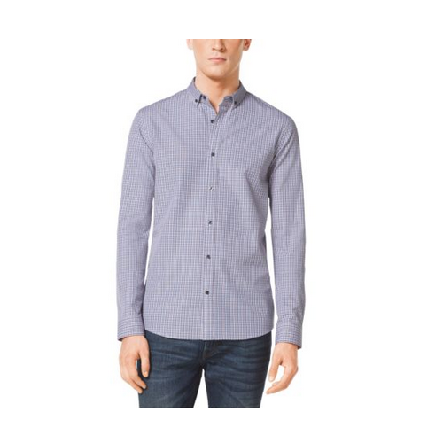 MICHAEL KORS MEN Slim-Fit Check Cotton Shirt PERSIMMON