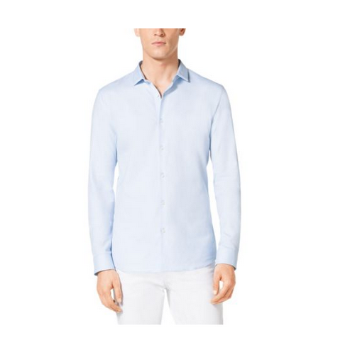 MICHAEL KORS MEN Slim-Fit Cotton Oxford Shirt MIST BLUE