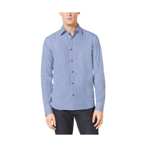 MICHAEL KORS MEN Slim-Fit Gingham Cotton Shirt TIDAL