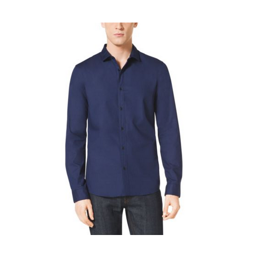 MICHAEL KORS MEN Slim-Fit Stretch-Cotton Shirt INDIGO