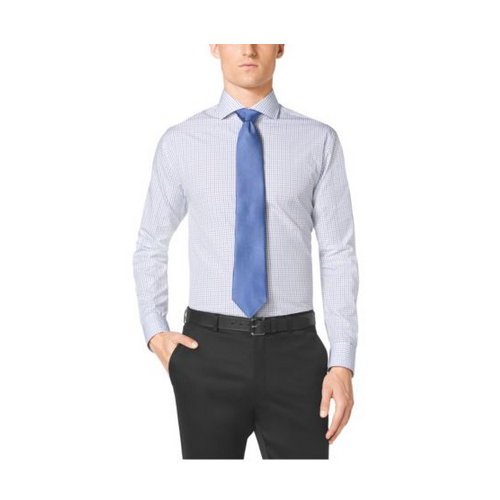 MICHAEL KORS MEN Cutaway-Collar Cotton Dress Shirt ROYAL