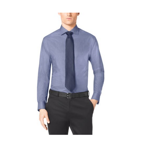 MICHAEL KORS MEN Spread-Collar Cotton Dress Shirt SLATE BLUE