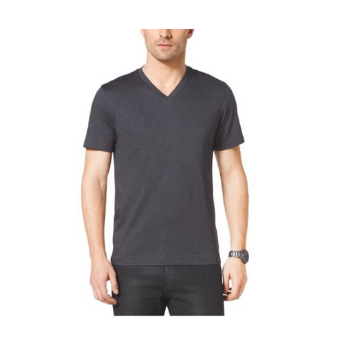MICHAEL KORS MEN V-Neck Cotton T-Shirt CONCRETE