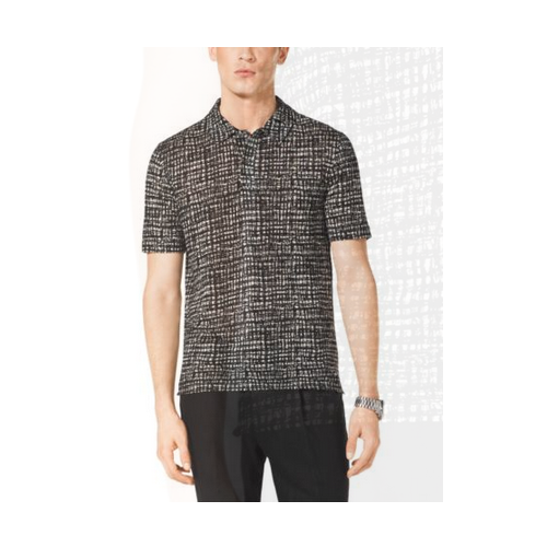 MICHAEL KORS MEN Printed Linen And Cotton Polo Shirt MUSLIN