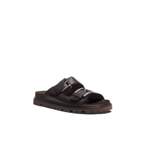 MICHAEL KORS MEN Graham Leather Sandal CHOCOLATE
