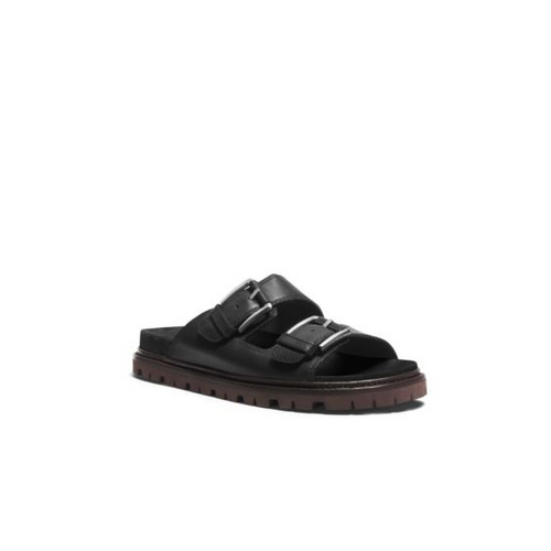 MICHAEL KORS MEN Graham Leather Sandal BLACK