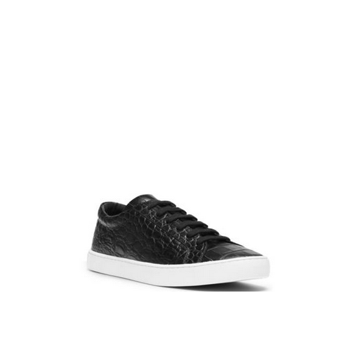 MICHAEL KORS MEN Jake Embossed-Leather Sneaker BLACK