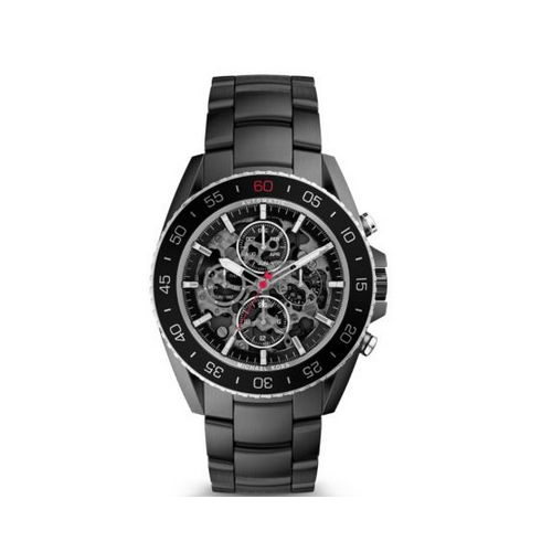 MICHAEL KORS JetMaster Automatic Black-Tone Watch