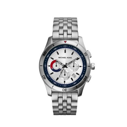 MICHAEL KORS Outrigger Silver-Tone Watch
