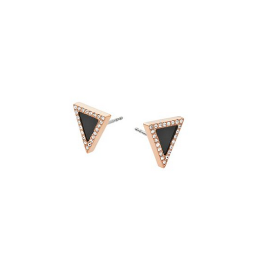 MICHAEL KORS Rose-Gold Tone Triangle Stud Earrings
