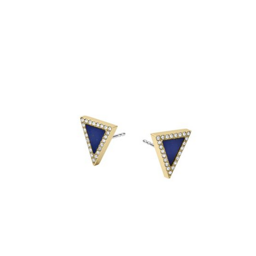 MICHAEL KORS Lapis Triangle Stud Earrings
