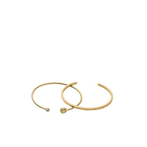 MICHAEL KORS Pavé And Logo Gold-Tone Bracelet Set