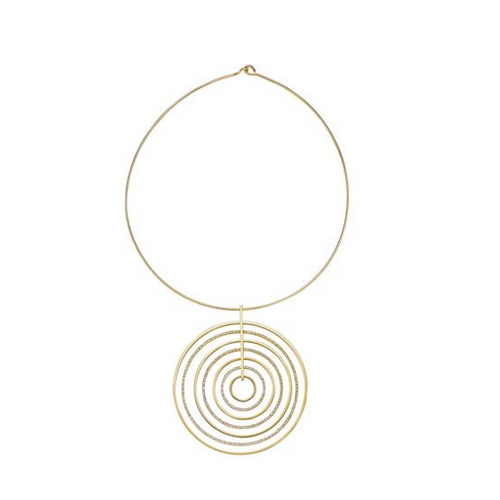 MICHAEL KORS Pavé Silver And Gold-Tone Necklace