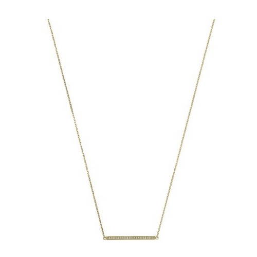 MICHAEL KORS Pavé Gold-Tone Pendant Necklace