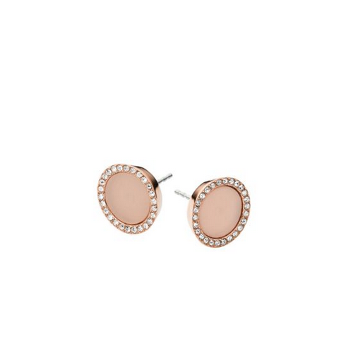 MICHAEL KORS Blush Acetate And Stainless Steel Earrings