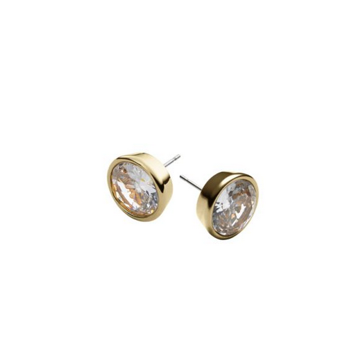 MICHAEL KORS Crystal Gold-Tone Medium Stud Earrings