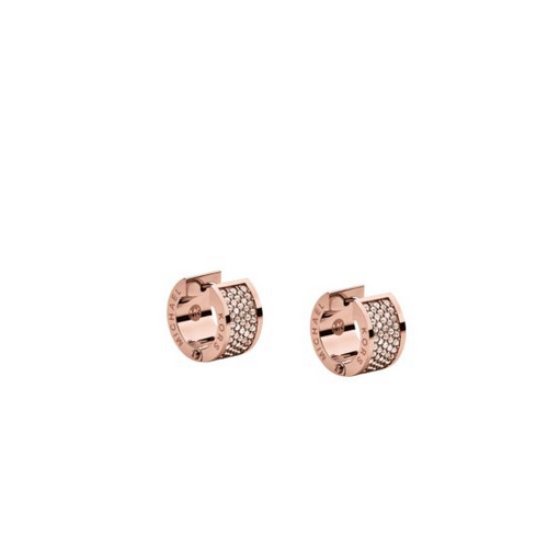 MICHAEL KORS Pavé Rose Gold-Tone Hug Earrings