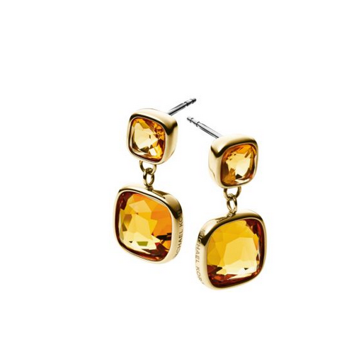 MICHAEL KORS Citrine Gold-Tone Drop Earrings