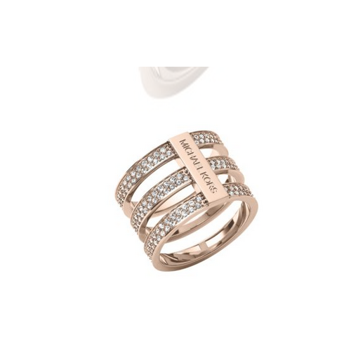 MICHAEL KORS Pavé Rose Gold-Tone Ring