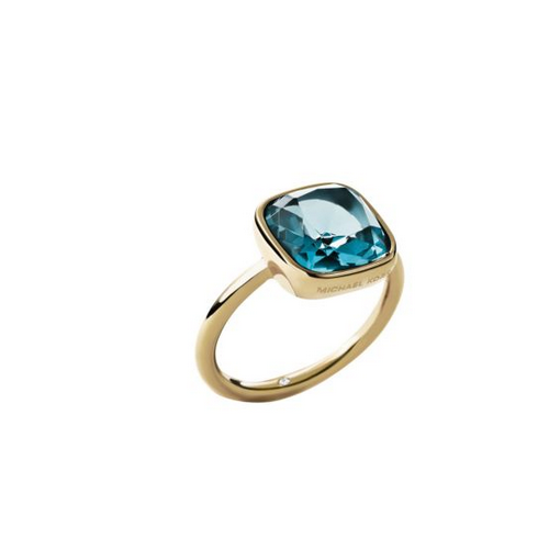 MICHAEL KORS Aqua Gold-Tone Ring
