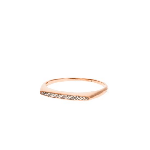 MICHAEL KORS Pavé Rose Gold-Tone Hinge Bangle